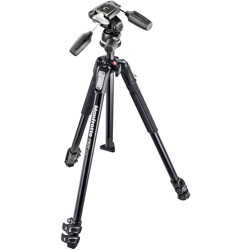 Manfrotto-190X Kit - Aluminum 3 Section Tripod with 804RC2 3 Way Head #MK190X3-3W-Tripods & Monopods
