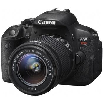 Canon-EOS Digital Rebel T5i with EF-S 18-55mm IS STM Lens - Black-Digital Cameras