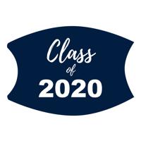 Navy/White Custom Class of 2020 Face Mask (Lg/Adult)