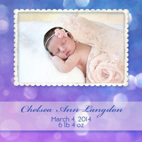 Bokeh Purple Newborn Magnet