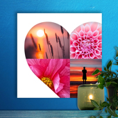 12 x 12 Heart Collage Acrylic Print - 4 photos