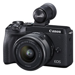 Canon-EOS M6 Mark II Interchangeable Lens Camera with EF-M 15-45mm IS STM and EVF-DC2-Digital Cameras