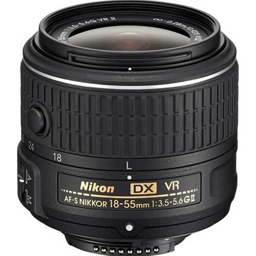 Nikon-AF-S DX NIKKOR 18-55mm f/3.5-5.6G VR II (En Solde)-Objectifs pour réflexes et systèmes compacts