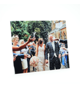 32x18 Gloss White Metal Print