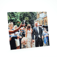 24x18 Gloss White Metal Print