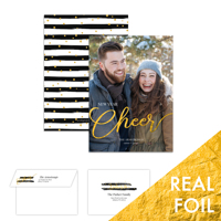 New Year Cheer<br>5x7 Foil<br>Envelope