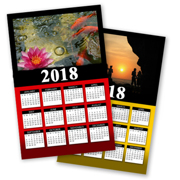 2018 Poster Calendars - Single Page