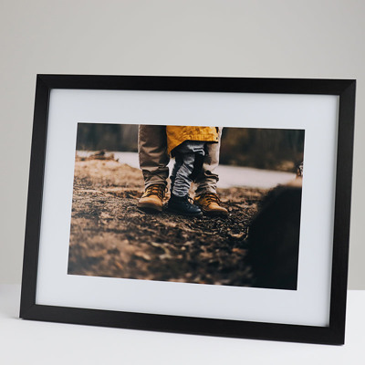 400x300mm Print in a 20mm Black Frame with a 200x300mm image  (50mm white space on all sides)