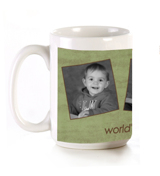 11 oz Green & Brown Mug