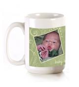 11 oz Green Swirls Mug