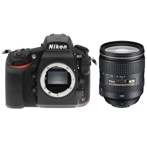 Nikon-D810 DSLR Camera with AF-S NIKKOR 24-120mm f/4G ED VR Lens - Black-Digital Cameras