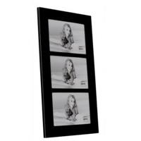 Multi Picture Black Glass Frame for 3 6x4-inch Photos