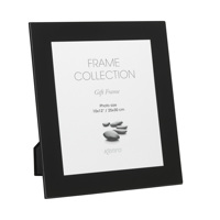 Black Glass Framed Print