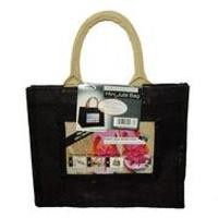 Jute Photo Fashion Bags 8x10 Black