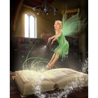 Spellbook Flying Fairy + 8x10'' Print