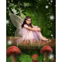 Jungle Mushroom Fairy + 8x10'' Print