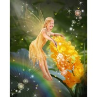 Golden Flying Fairy + 8x10'' Print