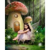 Mushroom House Fairy + 8x10'' Print