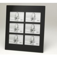 Multi Picture Black Glass Frame for 6 6x4-inch Photos