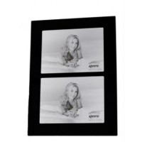 Multi Picture Black Glass Frame for 2 7x5-inch Photos