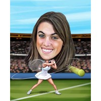 Tennis Female + 8x10'' Print