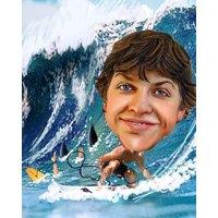 Surfing Male + 8x10'' Print