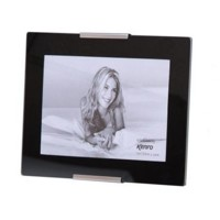 8x6'' Portrait Print + Black Glass Frame