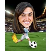 Football Female + 8x10'' Print