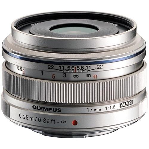 Olympus-M. Zuiko Digital 17mm f1.8 Lens - Silver-Lenses - SLR & Compact System