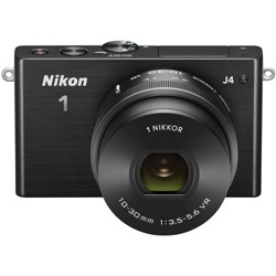 Nikon-1 J4 Compact Interchangeable Lens Camera with 1 NIKKOR VR 10-30mm f/3.5-5.6 PD-ZOOM Lens-Digital Cameras