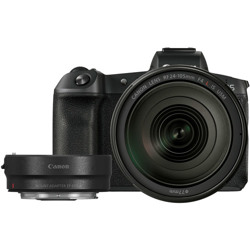 Canon-EOS R Mirrorless Camera with RF 24-105mm F4 L IS USM Lens and EF-EOS R Mount Adapter-Digital Cameras