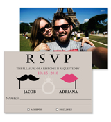 Retro - 2 Sided RSVP