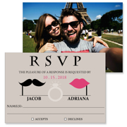 Retro - 2 Sided RSVP  3.5x5
