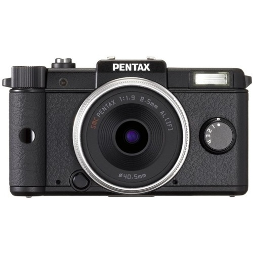 Pentax-Q Digital Camera with 8.5mm f/1.9 Prime Kit Lens - Black-Digital Cameras