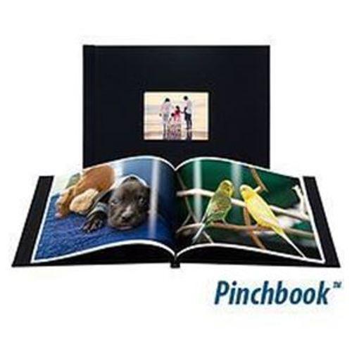 6x8 (Pinchbook) Black Linen with window