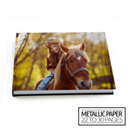 11x8½ Flush Mount Hardcover Photo Book / Metallic Paper (22-30 Pages)