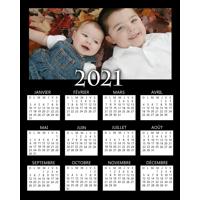 8 x 10 Poster Calendar (black background) - 2021