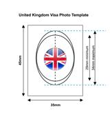 United Kingdom Visa Photo Template
