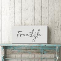 "Freestyle 12""x24"" Canvas Print"