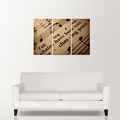 """Laminage sur bois de 3 panneaux (12""""x24"""") avec côté noir, grandeur final (36""""x24"""")"""