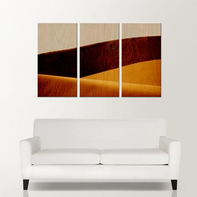 """Laminage sur bois de 3 panneaux (16""""x30"""") avec côté noir, grandeur final (48""""x30"""")"""