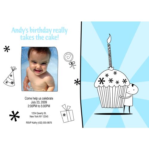 7x5* Carte de fête bébé fille ou garcon