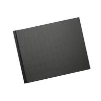 A4 Espresso - 29.7 cm x 21 cm Black Linen Cover