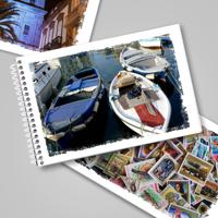 4x6 Hor Flip Book - White Grunge Frame