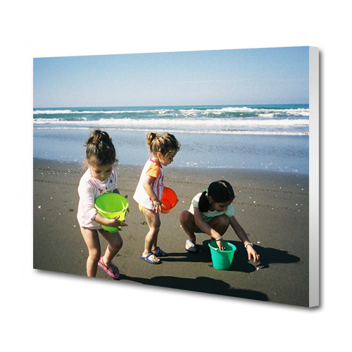 36 x 18 Canvas - 0.75 inch White Wrap