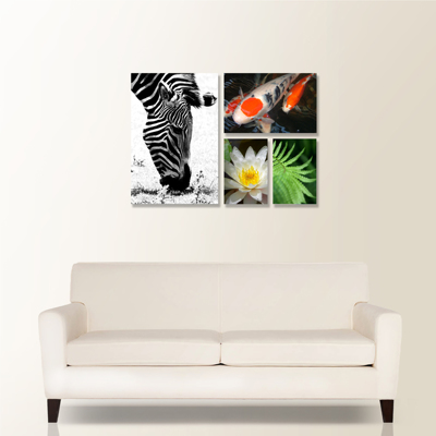 Showcase 4 Piece Canvas Wall Display