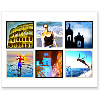 8 X 10 Collage With 6 Square Photos Hanafins Gift Specifications