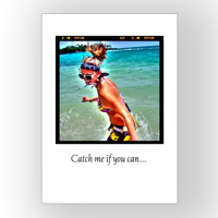 5x7 Vertical 1 page Photo Card - printed on photo paper