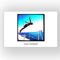 5x7 Horizontal 1 page Photo Card - printed on photo paper