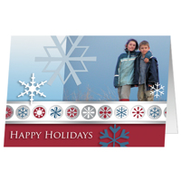 J3 Happy Holidays Snow Flakes - set of 25 cards